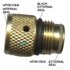 BLACK, MIDDLE EXTERNAL SEAL'S FOR 3.1oz (88g) Co2 CAPSULE (BRASS or SILVER CROSMAN PAINTBALL ADAPTOR) pack of 5 seals