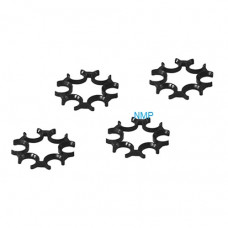 ASG - Spare moon clips, (4 pcs. BLACK for DW715 series S/No 16K onvards)