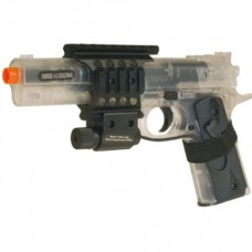 6mm AIRSOFT Colt 1911 target CLEAR 6mm BB spring PISTOL