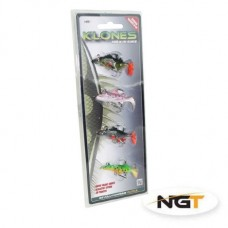 Pack of 4 Klone Soft Bait Set - Perch, Pike, Roach and Trout