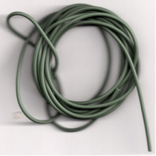 2 metres SINKING ANTI TANGLE RIG TUBE ( WEED GREEN ) (approx) (made in uk)