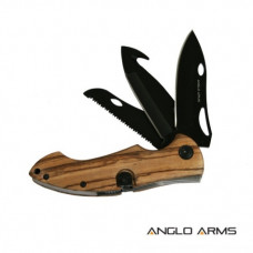 8 inch Lock Knive Zebrawood Multi Tool With Three Blades C-818