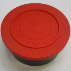 Bait boxes round with secure lid and ventilation holes red lid 1 pint medium